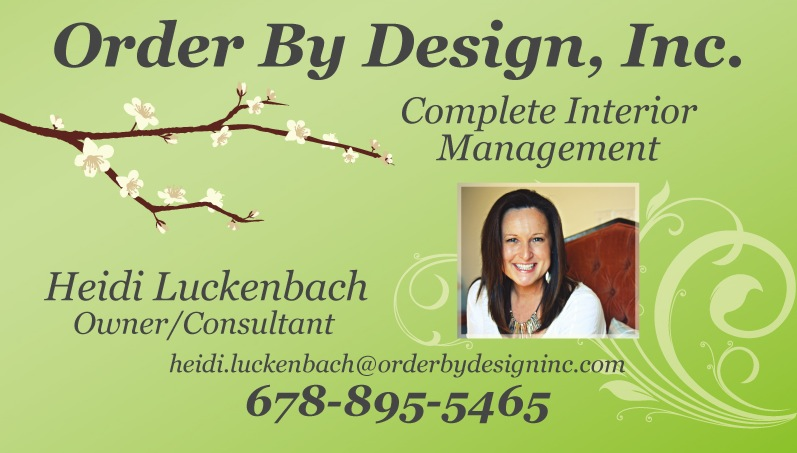 Order By Design, Inc. Business Card by Liz Lee Media